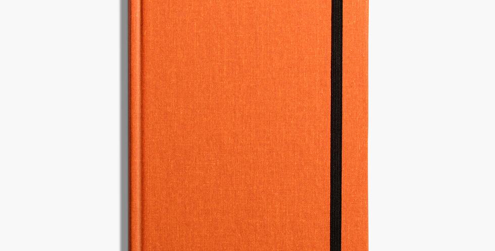 Shinola Medium Hard Linen Journal: Sunset Orange