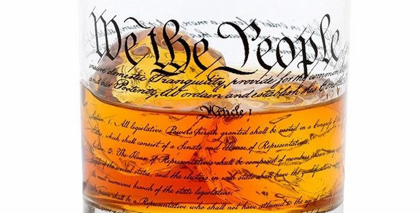 Constitution Rocks Glass
