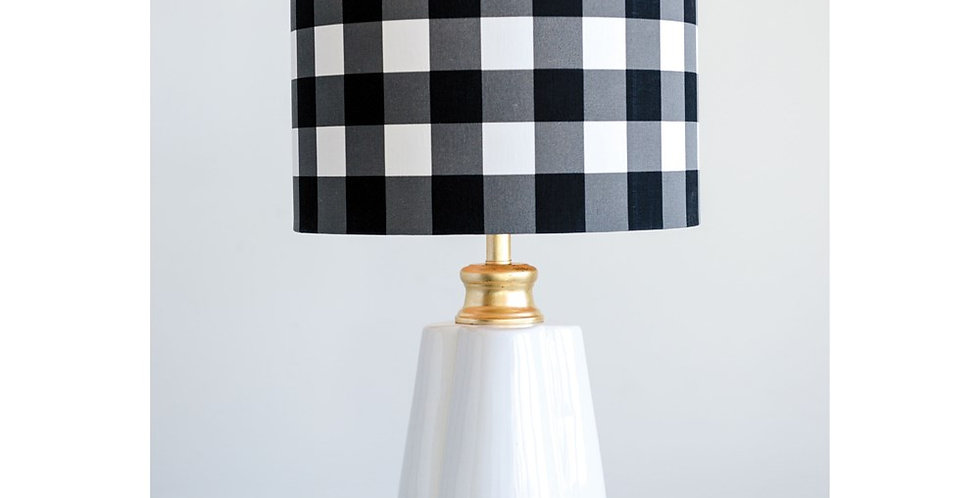 Checked Table Lamp