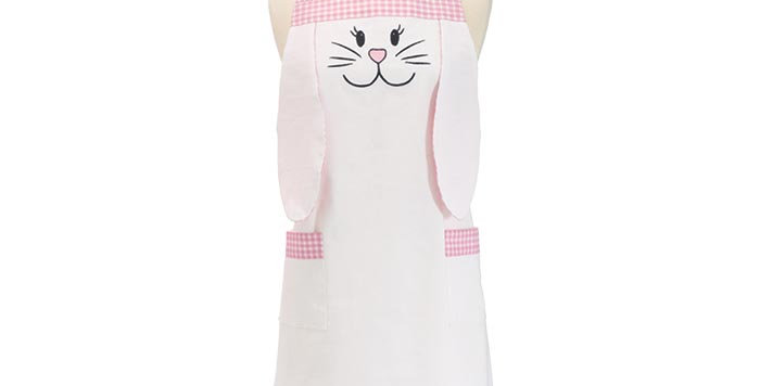 Adult White Bunny Apron
