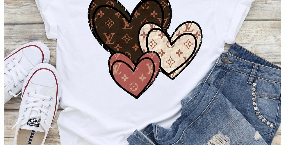 Hearts LV Tee