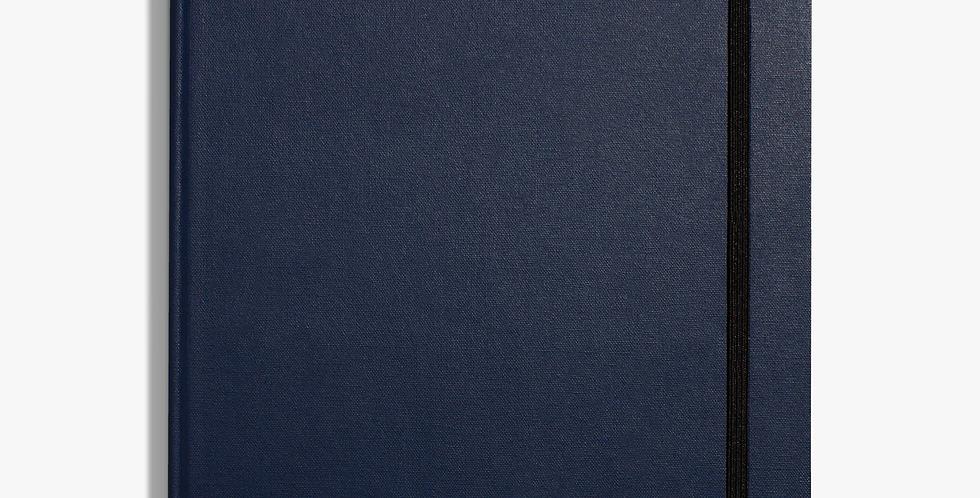 Shinola  Large Hard Linen Journal: Navy
