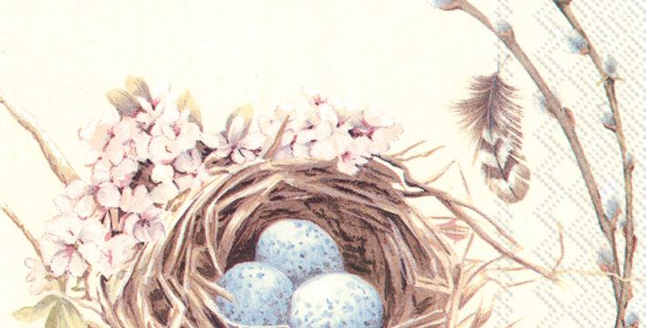 Nest with Birds Lunch Napkin
