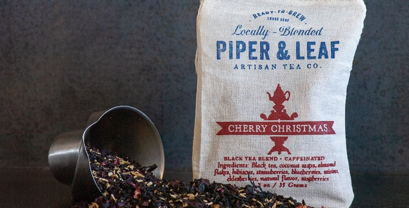 Cherry Christmas Muslin Bag of Loose Leaf Tea – 15 Servings