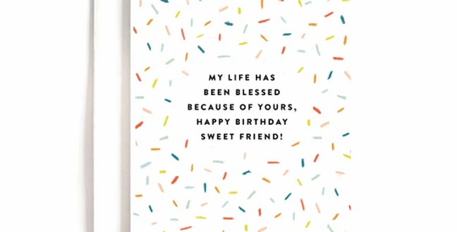 Blessed Birthday Card