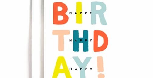 3x Birthday Card