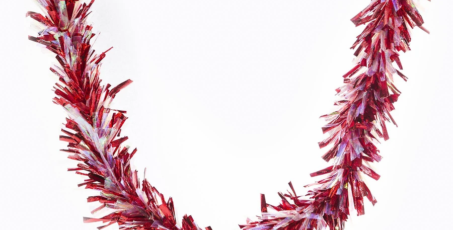 Red/Irid 9ft Party Garland