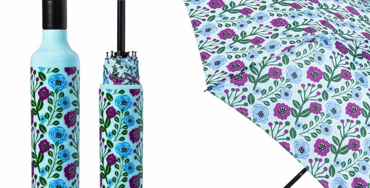 Floral Fantasy Bottle Umbrella