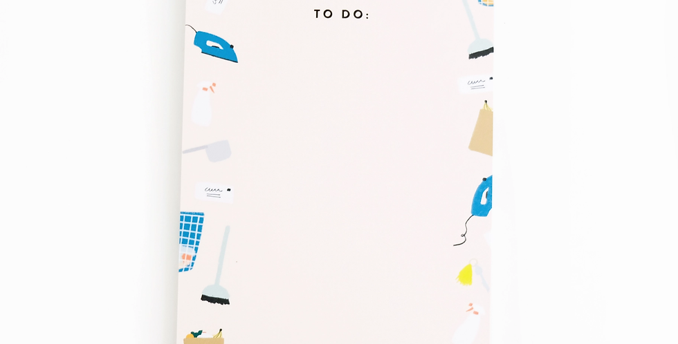 To Do List Illustrated Notepad