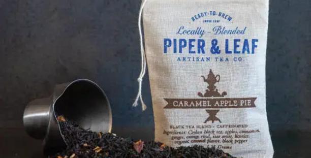 Caramel Apple Pie Muslin Bag of Loose Leaf Tea – 15 Servings
