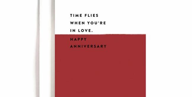 Time Flies Anniversary Card