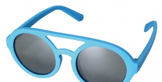 Sunglasses round lens blue
