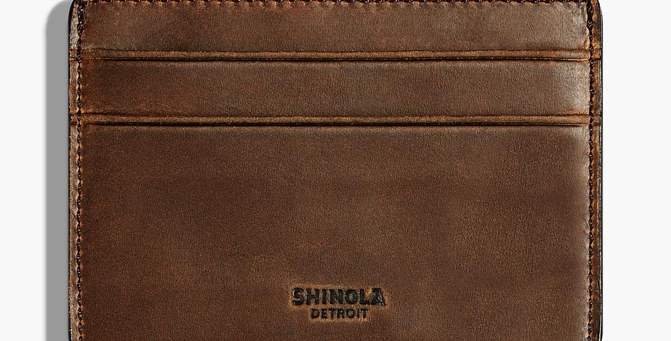 Medium Brown 6 Pocket Card Case