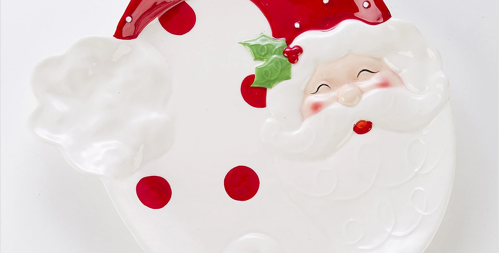 Jolly St Nick Large Round Plate