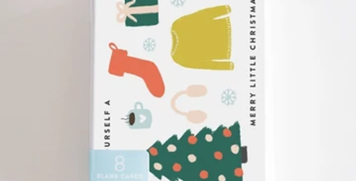 Merry Little Xmas Boxed Set of 8 Cards