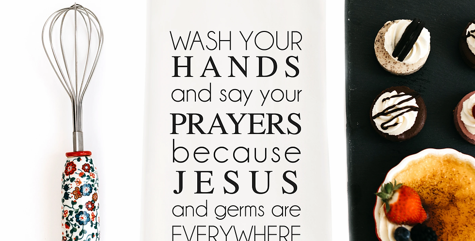 Jesus and Germs Towel