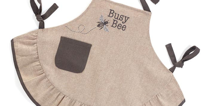 Child Busy Bee Linen Apron