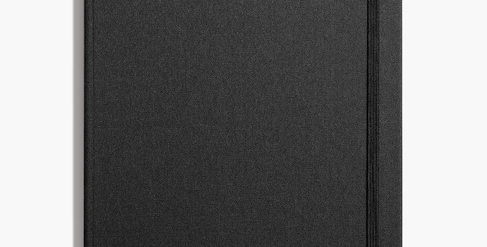 Shinola Large Hard Linen Journal: Black