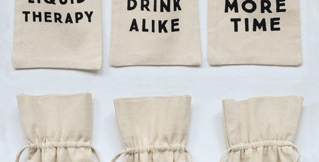 Wine Bag with Sayings