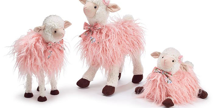 Assorted Pink Lamb Family