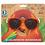 Thumbnail: Meow Kids Orange Stripe Cateye Sunglasses