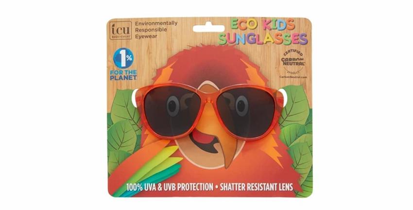 Meow Kids Orange Stripe Cateye Sunglasses