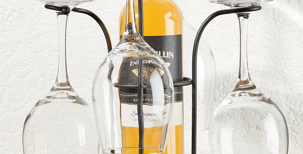 Tabletop Wine Bottle and Glass Holder
