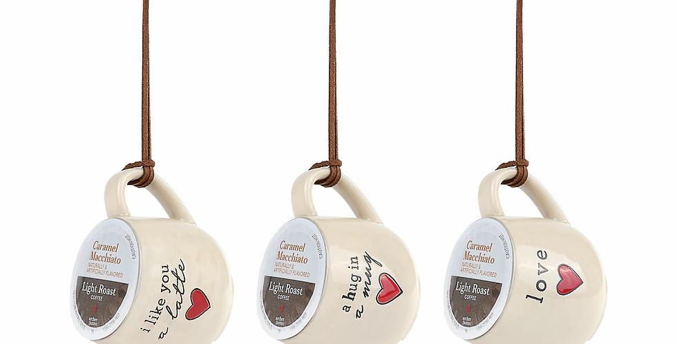Love Coffee Pod Mug Ornaments