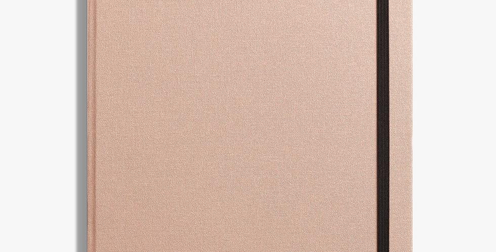 Shinola Large Hard Linen Journal: Blush