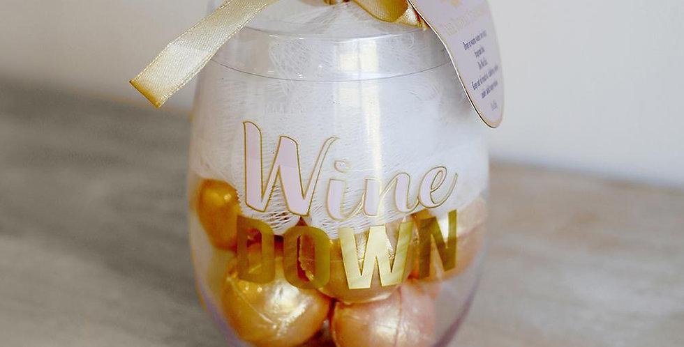 Wine Down Bath Bomb Set