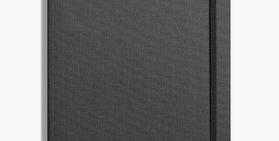 Shinola  Large Soft Linen Journal: Charcoal Gray