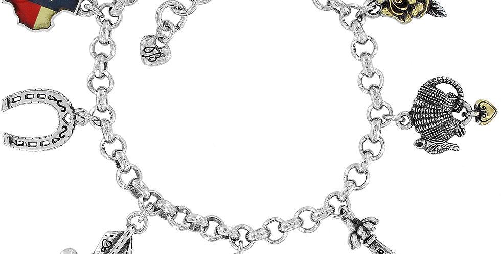 Texas State Charm Bracelet