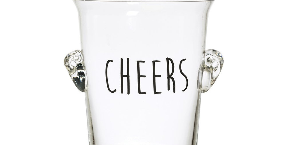 Cheers Glass Ice Bucket