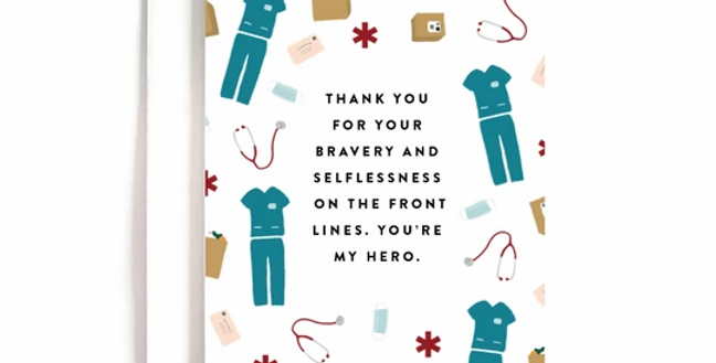Front Lines Thank You Card