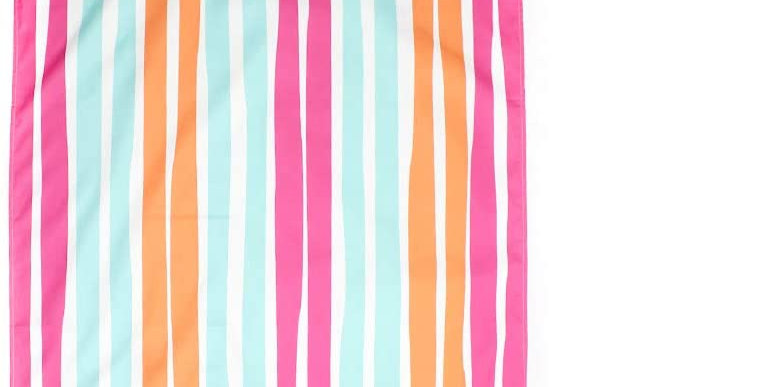 Aruba Strip Giant Beach Towel in Pink/Orange