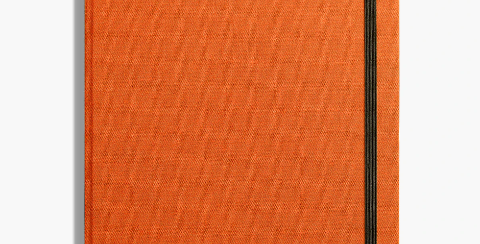 Shinola Large Hard Linen Journal: Sunset Orange