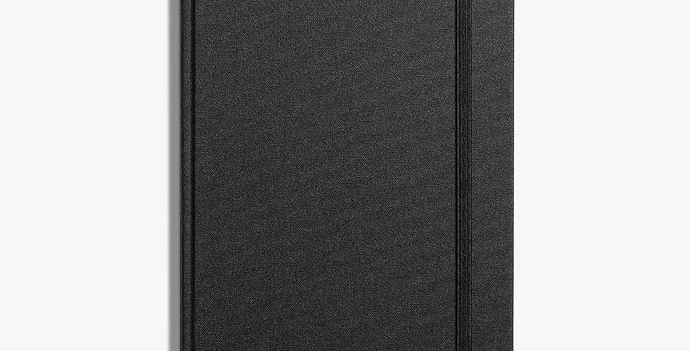 Shinola Hard Linen Medium Journal: Jet Black