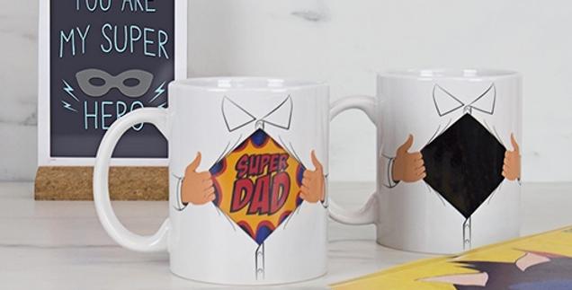 Superdad Heat Reveal Shirt Mug