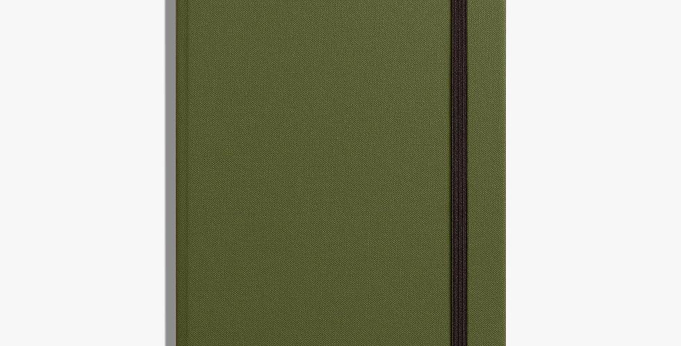 Shinola Medium Hard Linen Journal: Olive