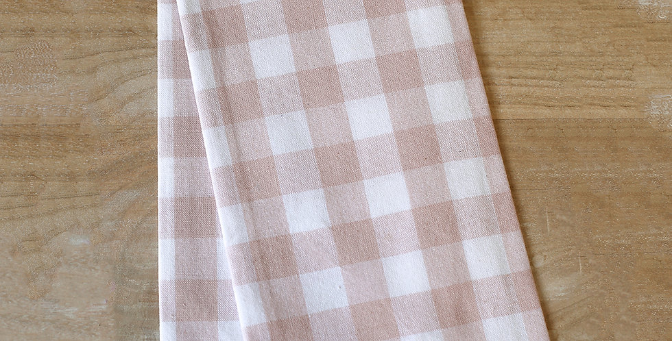 Hand Towel Pink/White