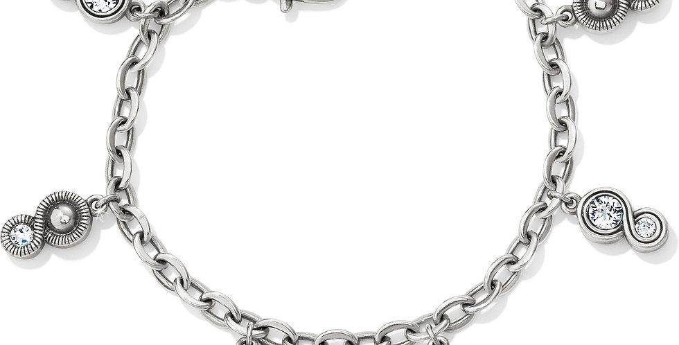 Infinity Sparkle Charm Bracelet