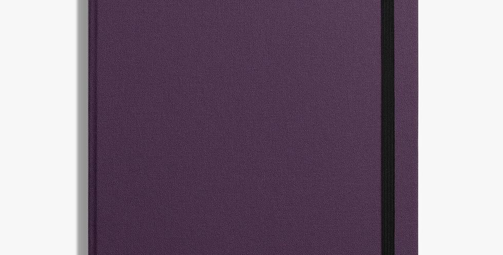 Shinola Large Hard Linen Journal: Dark Purple