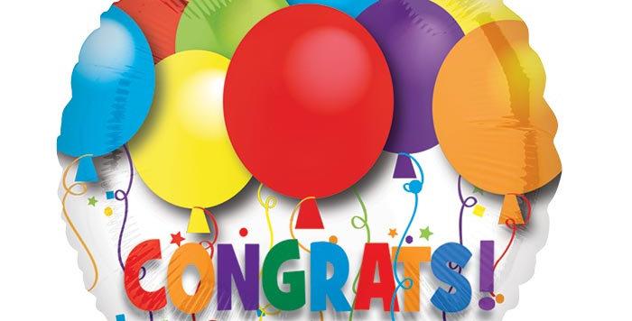 """Congrats Balloon 4"""""""