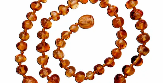 Amber Teething Necklace - Light Cherry Polished Baroque