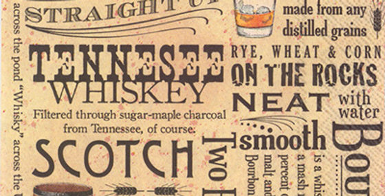 Cocktail Napkin Whiskey