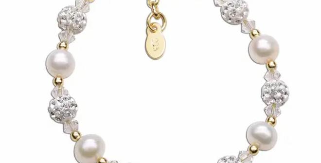 Charlotte - 14K Gold Plated Pearl Bracelet