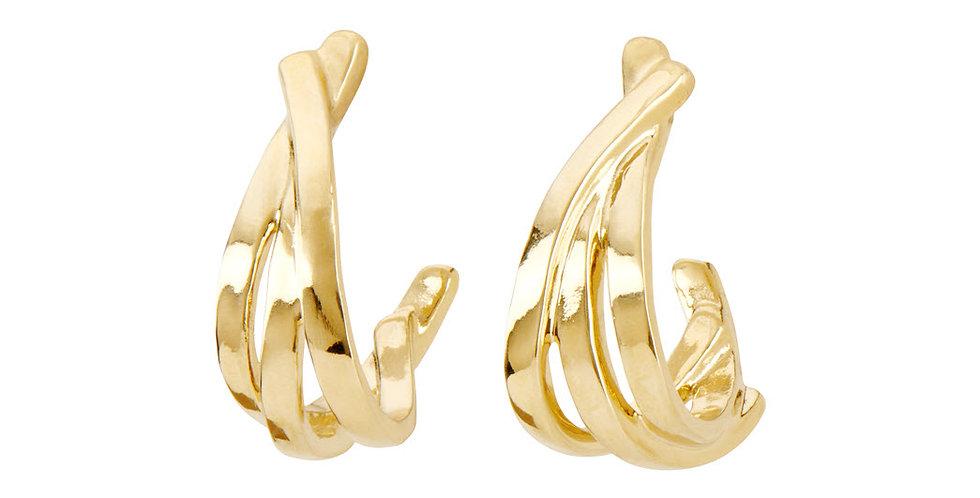Nihiwatu Beach Earrings Gold