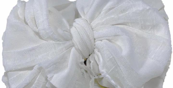 Ruffled Headband- Ivory
