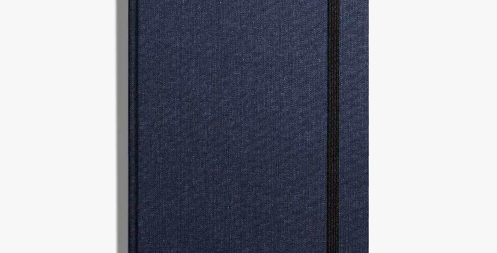Shinola Medium Hard Linen Journal: Navy