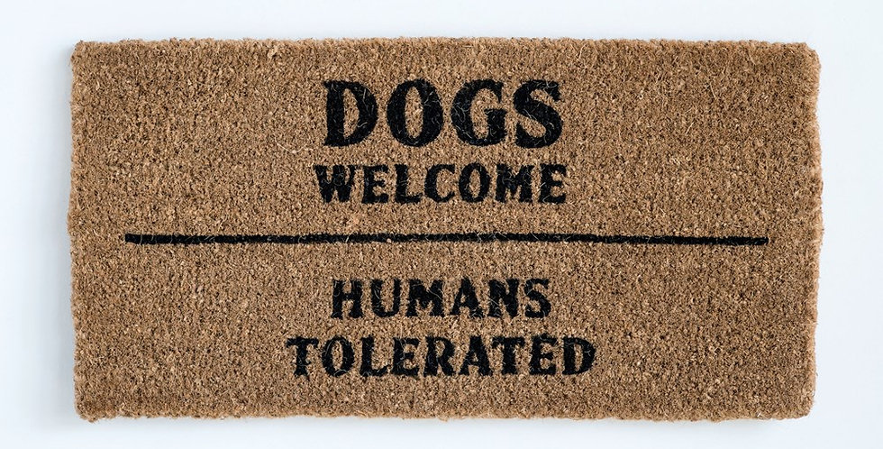 Dogs Welcome Doormat